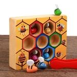 Jeu educatif la ruche et les abeilles de la boutique jouet bomo-jeu d apprentissage-montessori-motricité fine-jouet ludique