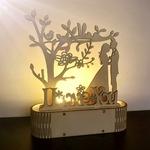 Decoration romantique en bois-je t aime avec eclairage led de la boutique jouet bomo-cadeau-saint valentin-anniversaire-mariage