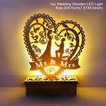 Decoration romantique en bois-coeur avec eclairage led de la boutique jouet bomo-cadeau-saint valentin-anniversaire-mariage-demande-declararation-amour