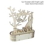 Decoration romantique en bois-coeur avec eclairage led de la boutique jouet bomo-cadeau-saint valentin-anniversaire-mariage