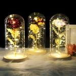 Présentation des principales couelurs de la Rose eternelle sous dome en verre inspiré du conte de la Belle et la Bête de la boutique Jouet Bomo
