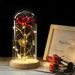 Rose eternelle sous dome en verre inspiré du conte de la Belle et la Bête de la boutique Jouet Bomo - Couleur Rouge