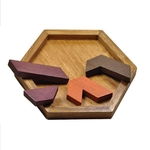Puzzle et tangram pour enfant-jeu-bois-montessori-bomo-motricite-reflexion-puzzle-hexagonal