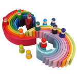 Jeu de construction Arches couleurs Arc-en-ciel , - Jouet Bomo