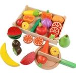 Plateau de Fruits et Légumes avec son couteau en bois