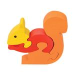 puzzle ecureuil en bois artisanal