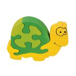 puzzle tortue en bois artisanal