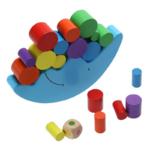 Jeu equilibre de la lune et ses blocs pour bébé - vue du dessus - jouet bomo