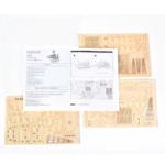 Puzzle 3d Bateau a voile en bois notice et vue des planches