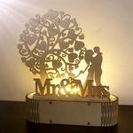 Decoration romantique Mr et Mrs-cadeau-saint valentin avec eclairage led integre de la boutique jouet bomo