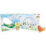 Livre d images interactif en bois, abeille, oiseau, ciel, jouet bomo-small foot legler