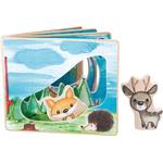 Livre d images interactif en bois, paysage forestier, jouet bomo-small foot legler