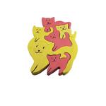 Puzzle-en-bois-artisanal-Minette et ses Minets