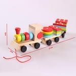 Nouveau-b-b-jouets-enfants-remorque-en-bois-Train-v-hicule-blocs-g-om-trie-couleur