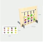 Jeu educatif et de logique en bois-montessori-jouet-bomo-reflexion-tableau-reversible