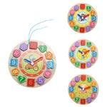 Horloge jouet en bois coloré-jeu-educatif-bois-montessori-jouet-bomo-apprentissage de l heure
