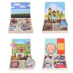 Puzzle 3D-bois-montessori-bomo-tableau-reversible-aimante-magnetique-puzzle-creatif-enfant
