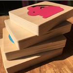 Jouet-Bomo-Bois-Montessori-3D-Animaux pour enfants et bébés