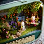 Mignon-chambre-maisMini monde à monter soi meme de la boutique jouet bomo puzzle-reconstitution par theme-maison de poupées-monde miniature-harry et bella-totoro-nostalgique-maison-chambre-puzzle-theatre