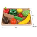 Jeu d imitation cuisine fruits et legumes à découper en bois-jouet bomo-montessori
