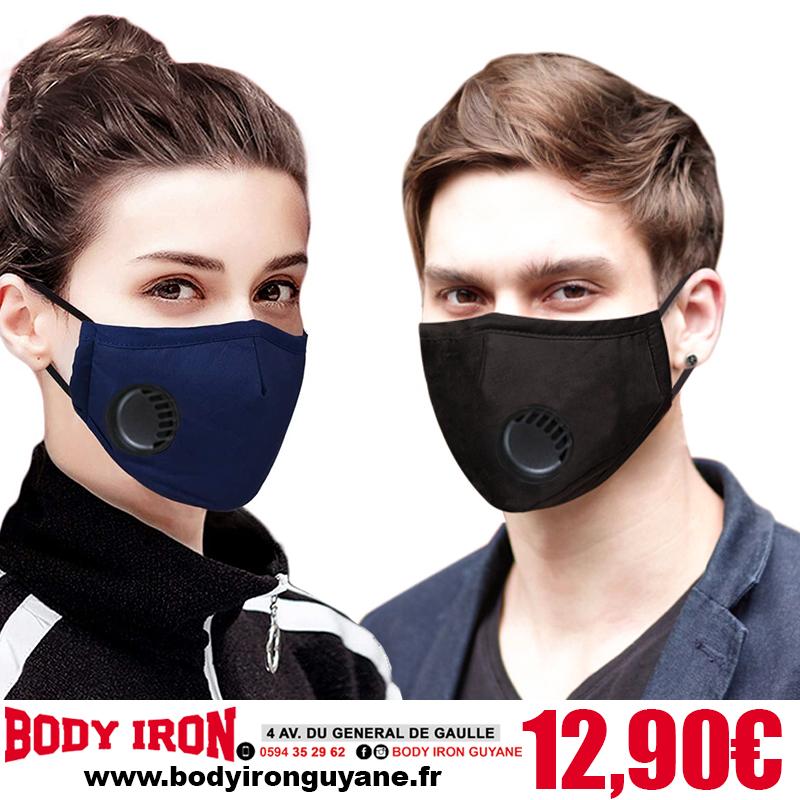 Masque en Coton Lavable Avec 2 Filtres en Carbone PM 2.5