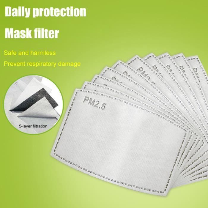 Lot de 10 Filtres à charbon Actif PM 2.5