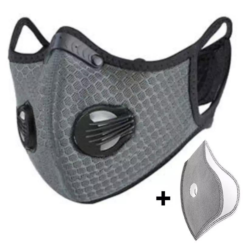 Masque de Sport ajustable avec valves, anti-pollution, incluant 5 filtres