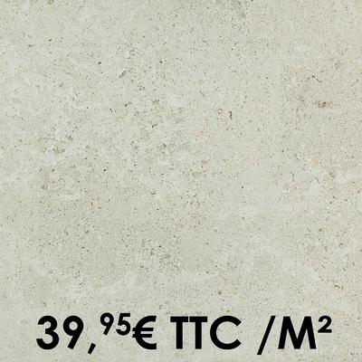 Carrelage 20mm Marazzi 60x60cm Gris Fleury20 Bianco