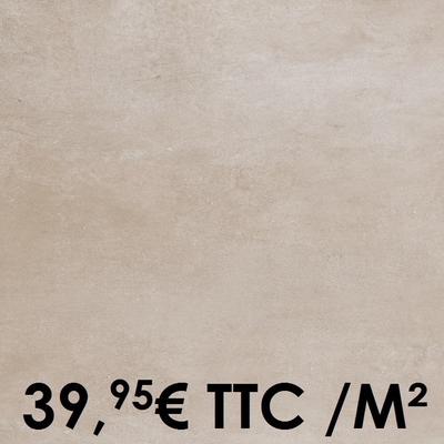 Carrelage 20mm Marazzi 60x60cm Plaster20 Sand