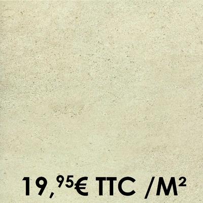 Carrelage Marazzi 45x45cm Stonework White