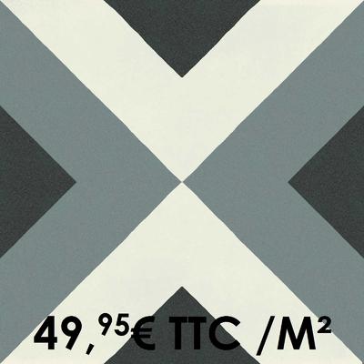Carrelage 20x20cm Decoro Freddo Macro 1 (Boîte de 0,96 m²)