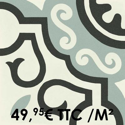 Carrelage 20x20cm Decoro Freddo Macro 2 (Boîte de 0,96 m²)