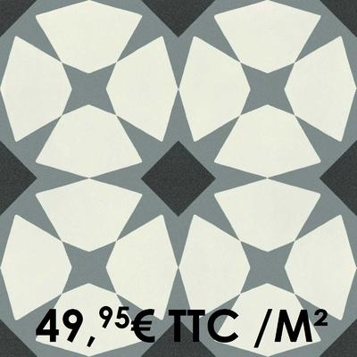 Carrelage 20x20cm Decoro Freddo Macro 4 (Boîte de 0,96 m²)