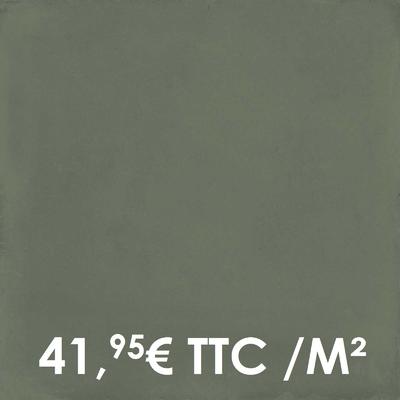 Carrelage 20x20cm Uni Mud (Boîte de 0,96 m²)