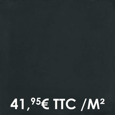 Carrelage 20x20cm Uni Midnight (Boîte de 0,96 m²)
