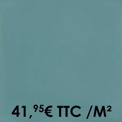 Carrelage 20x20cm Uni Denim (Boîte de 0,96 m²)