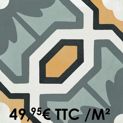 Carrelage 20x20cm Decoro Tappeto 6 (Boîte de 0,96 m²)
