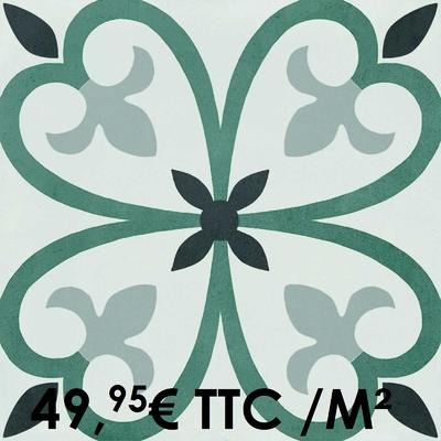 Carrelage 20x20cm Decoro Tappeto 5 (Boîte de 0,96 m²)