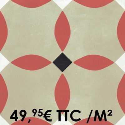 Carrelage 20x20cm Decoro Tappeto 8 (Boîte de 0,96 m²)