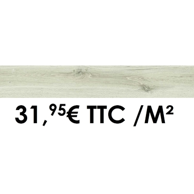 Carrelage Marazzi 15x90cm Treverkheart White