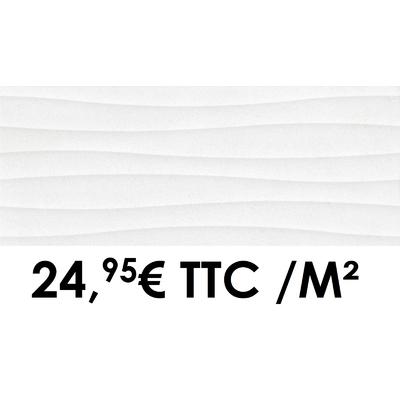 Faïence 20x50 cm 3D White (Boîte de 1,40 m²)
