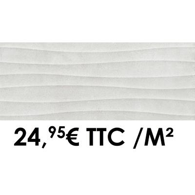Faïence 20x50 cm 3D Grey (Boîte de 1,40 m²)