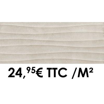 Faïence 20x50 cm 3D Taupe (Boîte de 1,40 m²)