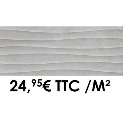 Faïence 20x50 cm 3D Anthracite (Boîte de 1,40 m²)