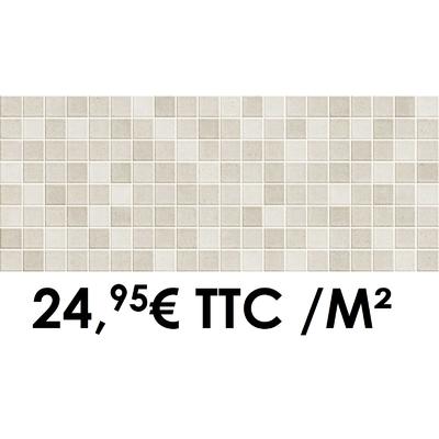 Faïence 20x50 cm Mosaïque Sand (Boîte de 1,40 m²)