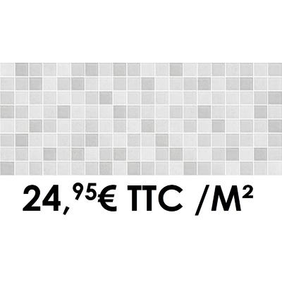 Faïence 20x50 cm Mosaïque Grey (Boîte de 1,40 m²)