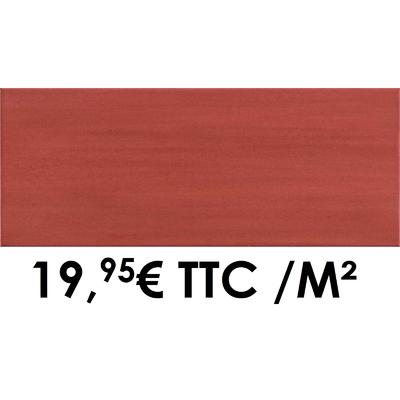 Faïence 20x50 cm Rouge (Boîte de 1,40 m²)