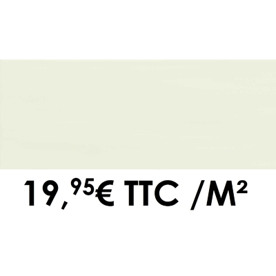 Faïence 20x50 cm Blanc (Boîte de 1,40 m²)