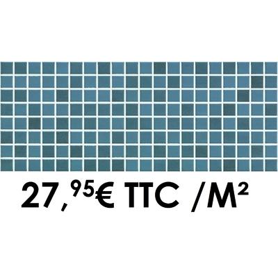 Faïence 20x50 cm Mosaïque Bleu (Boîte de 1,40 m²)