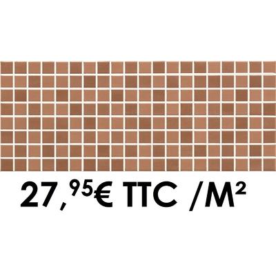Faïence 20x50 cm Mosaïque Rouge (Boîte de 1,40 m²)